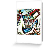 Mexican Sugar Skull, Day of the Dead, Dias de los muertos Greeting Card