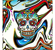 Mexican Sugar Skull, Day of the Dead, Dias de los muertos Photographic Print