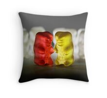 Gummy Bear Photography - Lucky Enough To Fing Each Other Throw Pillow