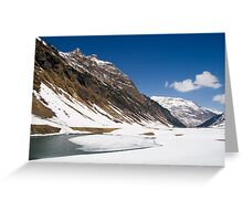 In the Alps Greeting Card