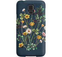 MeadowSweet Autumn on Rustic Blue Samsung Galaxy Case/Skin