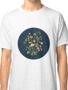 MeadowSweet Autumn on Rustic Blue Classic T-Shirt