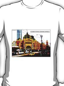 Flinders St Station Comicography T-Shirt