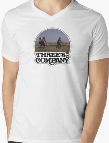 Three's Company  Mens V-Neck T-Shirt