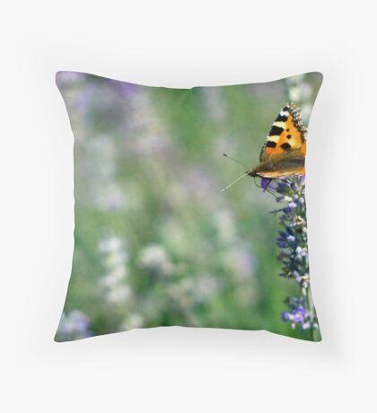 Lady Lavender Throw Pillow