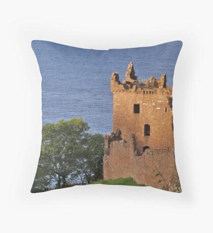 Urquhart Castle Throw Pillow