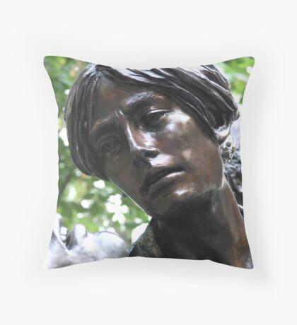 Through Caring Eyes Throw Pillow