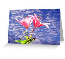 Summertime Lillies Greeting Card