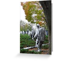 Korean War Memorial - Washington D.C. Greeting Card