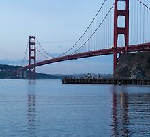Golden Gate Bridge in Early Morning by CarynSandoval