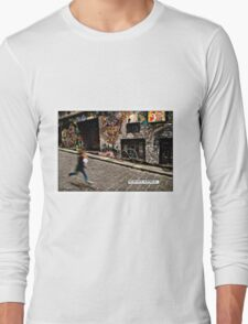 Alleyway, Melbourne Comicography Long Sleeve T-Shirt