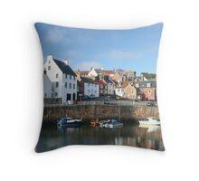 Crail Harbor, Scotland Throw Pillow