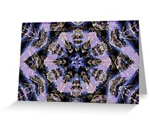 Frosty Kaleidoscope Greeting Card