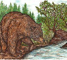 Bear fishing by artbyjehf