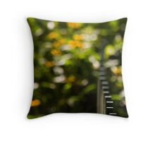 Woodstock New York Fence Throw Pillow