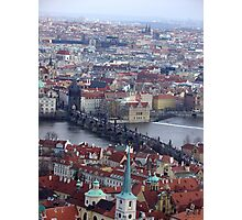 Prague - View from the top of St. Vitus Cathedral Photographic Print