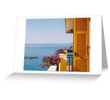 On the Balcony - Coast of Italy Greeting Card
