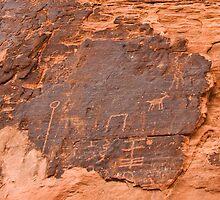 Ancient Petroglyphs - Valley of Fire by Kent Burton