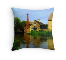 By A River Somewhere Throw Pillow