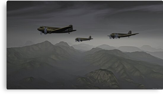 Flying the Hump by Walter Colvin