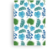 The Palm Leaves Pattern Canvas Print