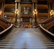 Grandiose Staircase in the Opera of Paris, France by Johannes  Huntjens
