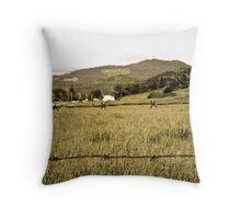 Distant Farm Throw Pillow