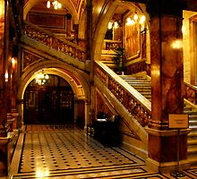 Staircase in Glasgow City Hall, Scotland by Johannes  Huntjens