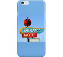 Buckaroo Motel Sign, Tucumcari, New Mexico  iPhone Case/Skin