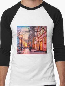 Boston at Christmas  Men's Baseball ¾ T-Shirt