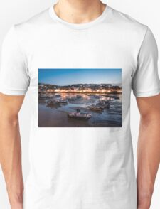 St Ives Harbour at Night, Cornwall, England Unisex T-Shirt