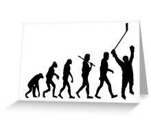 Hockey Evolution Greeting Card