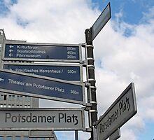 Street Signs In Berlin by longaray2