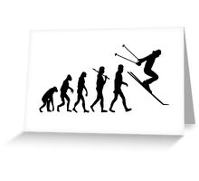 Extreme Skiing Evolution Greeting Card