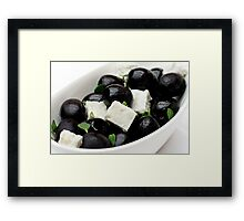 Black Olives & Feta Cheese Framed Print