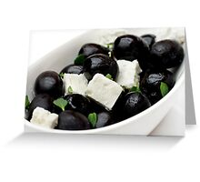 Black Olives & Feta Cheese Greeting Card