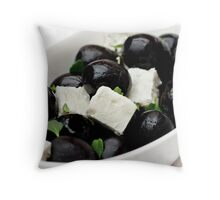 Black Olives & Feta Cheese Throw Pillow
