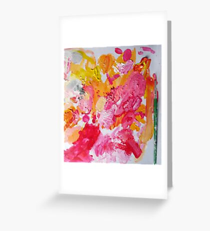 A Painter's Palette  Greeting Card