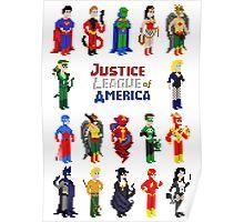 8 bit Justice Poster