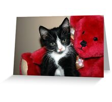 Teddy and me  Greeting Card