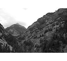Mountains along the pass Photographic Print