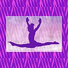 """The Gymnast ~ Pink and Purple Animal Stripe Version """"B"""" by Susan Werby"""