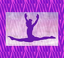"The Gymnast ~ Pink and Purple Animal Stripe Version ""B"" by Susan Werby"