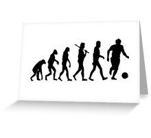 Soccer Evolution Greeting Card