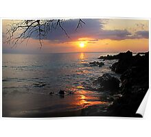 Makena Landing Sunset Poster
