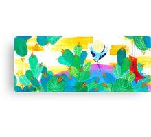 January Hanafuda - Pine Canvas Print