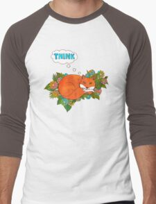 Think Outside the Fox Men's Baseball ¾ T-Shirt