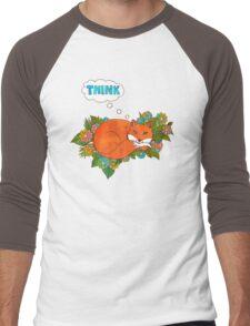 Think Outside the Fox Men's Baseball ¾ T-Shirt