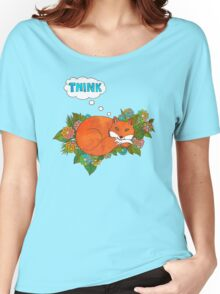Think Outside the Fox Women's Relaxed Fit T-Shirt