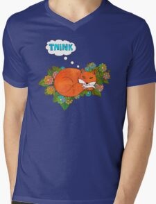 Think Outside the Fox Mens V-Neck T-Shirt